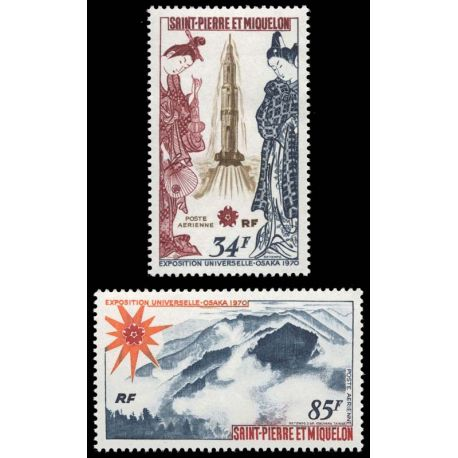 Timbre collection St Pierre & Miquelon N° Yvert et Tellier PA 48/49 Neuf sans charnière