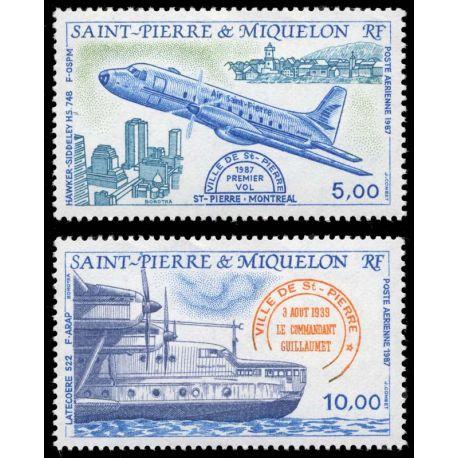Timbre collection St Pierre & Miquelon N° Yvert et Tellier PA 64/65 Neuf sans charnière