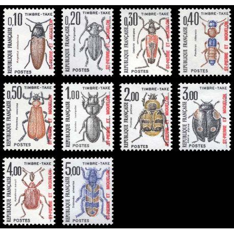 Timbre collection St Pierre & Miquelon N° Yvert et Tellier TT 82/91 Neuf sans charnière