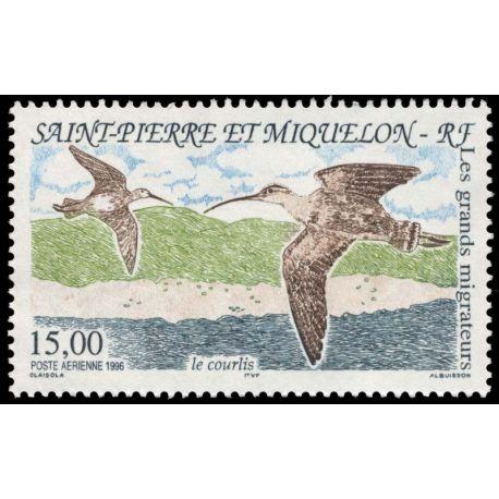 Timbre collection St Pierre & Miquelon N° Yvert et Tellier PA 75 Neuf sans charnière