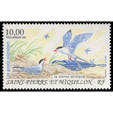 Timbre collection St Pierre & Miquelon N° Yvert et Tellier PA 74 Neuf sans charnière