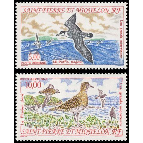 Timbre collection St Pierre & Miquelon N° Yvert et Tellier PA 72/73 Neuf sans charnière