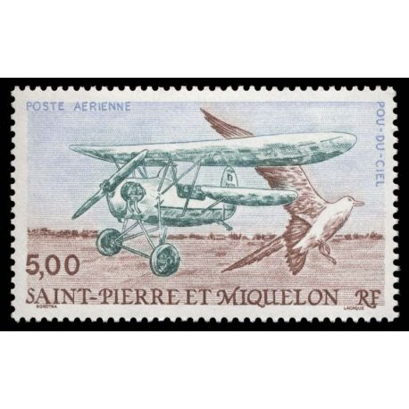 Timbre collection St Pierre & Miquelon N° Yvert et Tellier PA 69 Neuf sans charnière