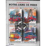 Bloc de 4 timbres Notre Dame de Paris