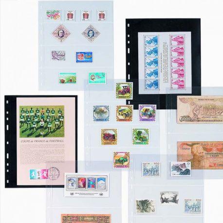 Matériel de rangement pour collectionneurs de marque Leuchtturm 10 Recharges Leuchtturm Optima pour timbres, billets, cartes ...