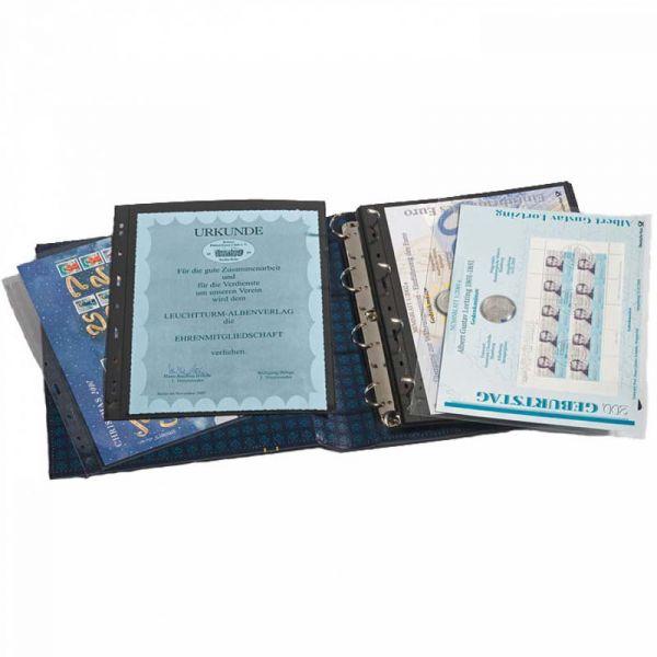 Reliure format A4 GRANDE-Classic, pour timbres, monnaies, billets et cartes postales - La Maison ...