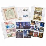 50 Recharges plastiques A4 Leuchtturm pour timbres, billets,....