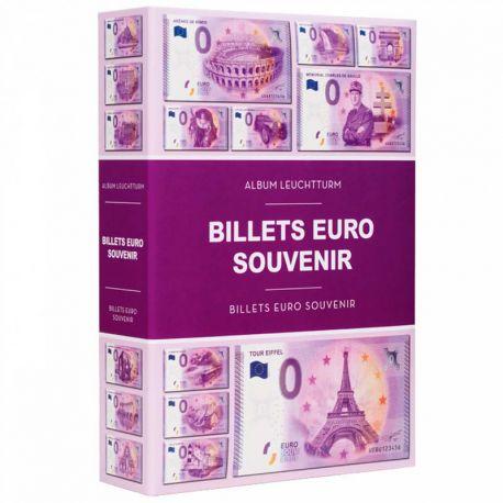 """Album Leuchtturm pour 420 billets """"Euro Souvenir"""""""