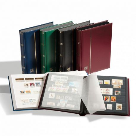 Einsteckbücher Briefmarken Höhepunkt 16 schwarze Seiten