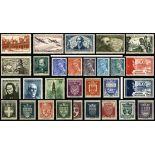 Briefmarken Frankreich 1942 in neuem ganzem Jahr