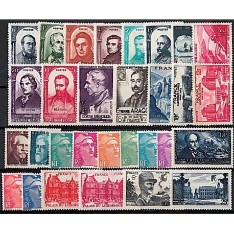 Francobolli Francia 1948 in anno completo nuovo