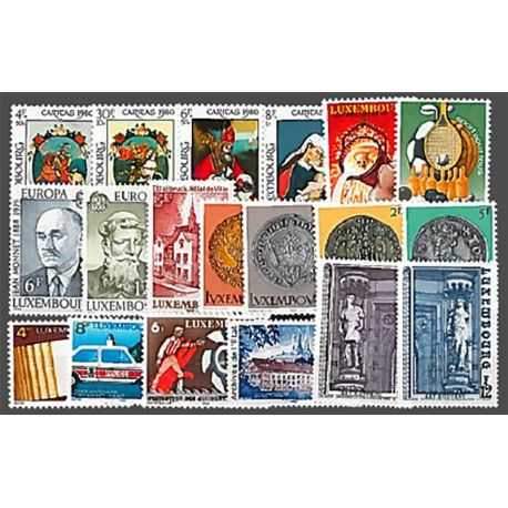 Lussemburgo anno 1980 completa francobolli nuovi