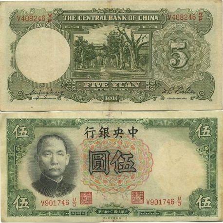 Chine - Pk N° 213 - Billet de 5 Yuan
