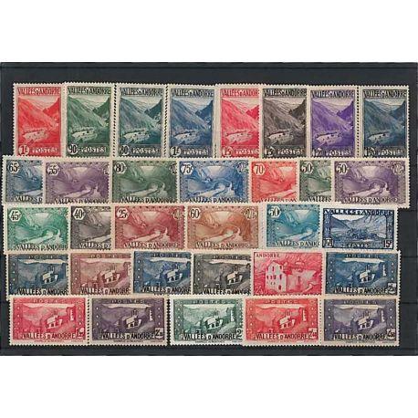 Andorre Français Année 1943 Complète timbres neufs