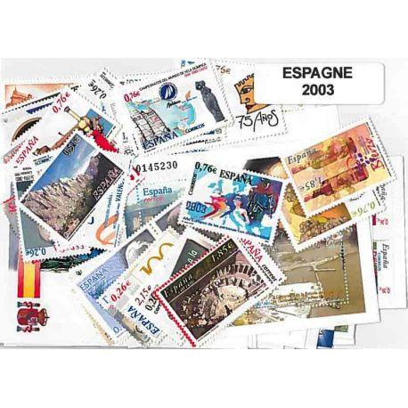 Spanien 2003 in vollständigem Jahr neue Stempel