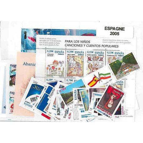 Timbres Neufs Espagne 2005 en Année Complète