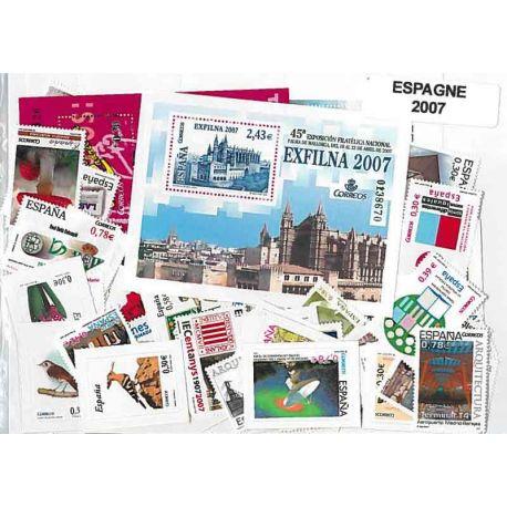 Timbres Neufs Espagne 2007 en Année Complète