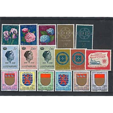 Luxemburg Jahr 1959 vervollständigt neue Briefmarken