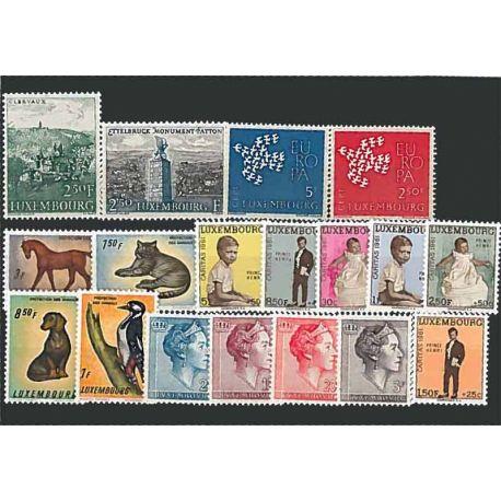 Luxemburg Jahr 1961 vervollständigt neue Briefmarken