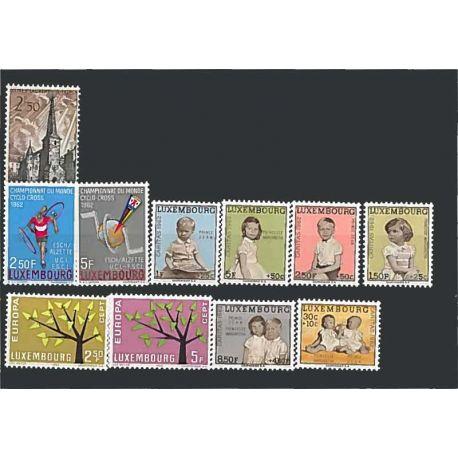 Luxemburg Jahr 1962 vervollständigt neue Briefmarken
