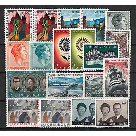 Lussemburgo anno 1964 completa francobolli nuovi