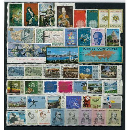 Turquie Année 1970 Complète timbres neufs
