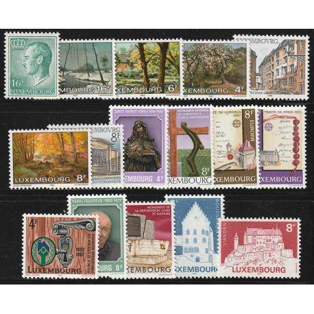 Luxemburg Jahr 1982 vervollständigt neue Briefmarken