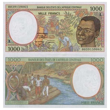 Central Africa Gabon - Pk # 402 - ticket 1000 Francs