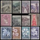 Timbres Andorre Espagnol 1963/66 en Année complète