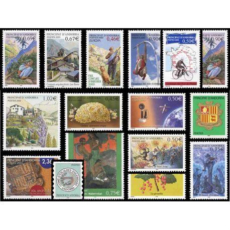 Französisches Andorra vervollständigt Jahr 2003 neue Briefmarken