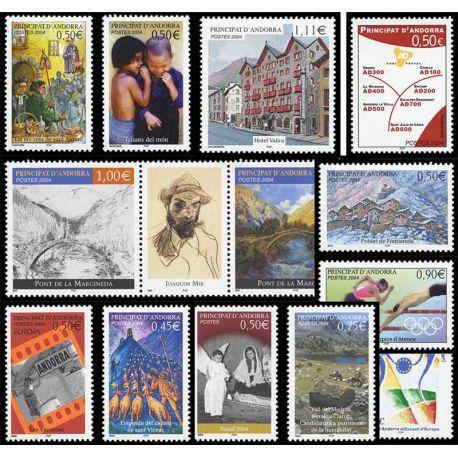 Französisches Andorra vervollständigt Jahr 2004 neue Briefmarken