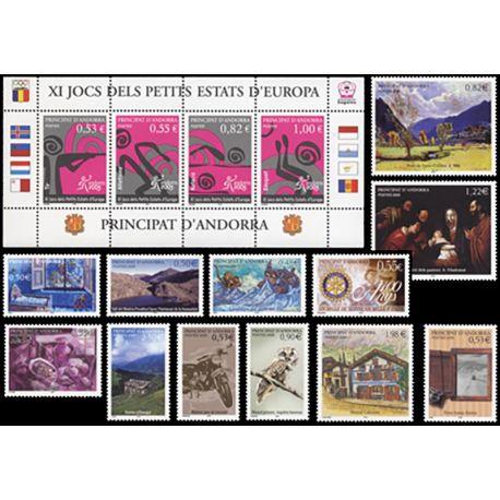 Französisches Andorra vervollständigt Jahr 2005 neue Briefmarken