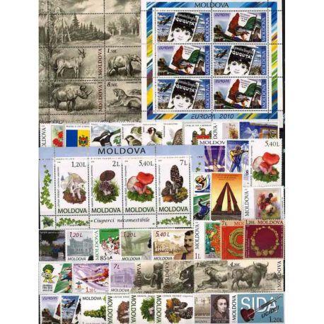 Francobolli nuovi Moldavia 2010 in anno completo