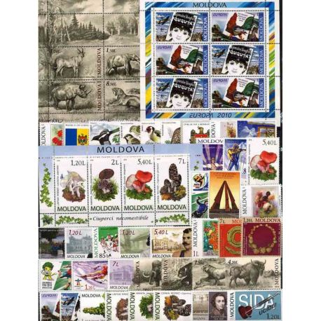 New stamps Moldavie 2010 in Complete Year