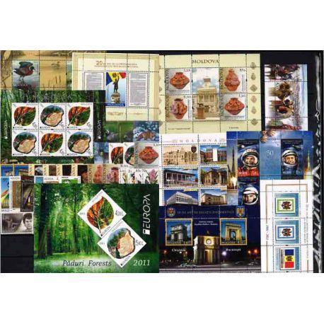 Francobolli nuovi Moldavia 2011 in anno completo