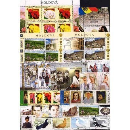 Francobolli nuovi Moldavia 2012 in anno completo