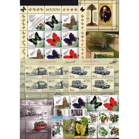 New stamps Moldavie 2013 in Complete Year