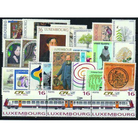 Luxemburg Jahr 1992 vervollständigt neue Briefmarken