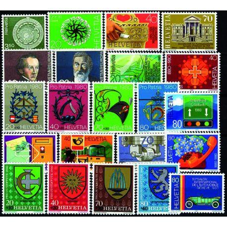 Suisse Année 1980 Complète timbres neufs