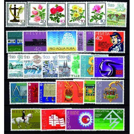 Lussemburgo anno 1982 completa francobolli nuovi