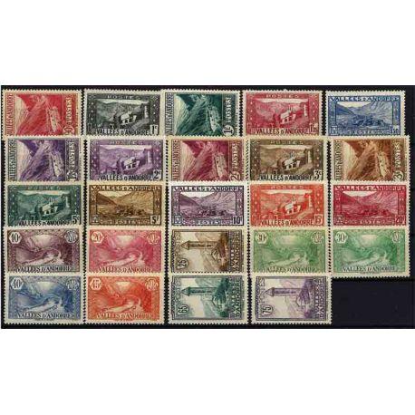 Französisches Andorra vervollständigt Jahr 1932/33 neue Briefmarken