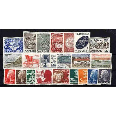 Francobollo Danimarca anno completo 1979 nuovo