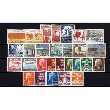 Briefmarke Dänemark neues ganzes Jahr 1981