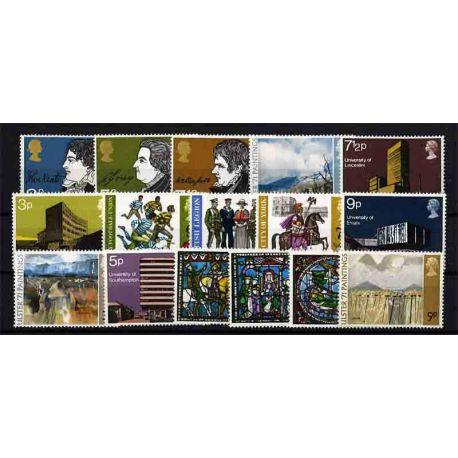 Briefmarke das Vereinigte Königreich neues ganzes Jahr 1971
