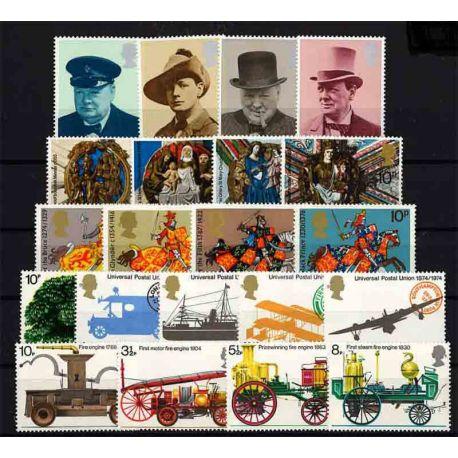 Briefmarke das Vereinigte Königreich neues ganzes Jahr 1974