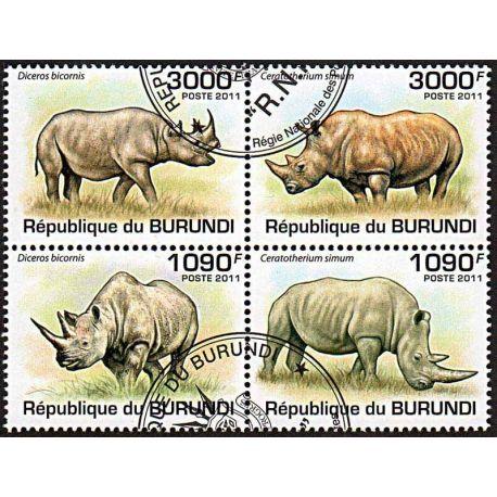 Timbres thèmatiques Burundi N° 1201/1204 Oblitérés