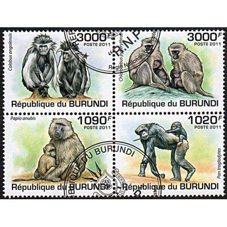 Timbres thèmatiques Burundi N° 1245/1248 Oblitérés
