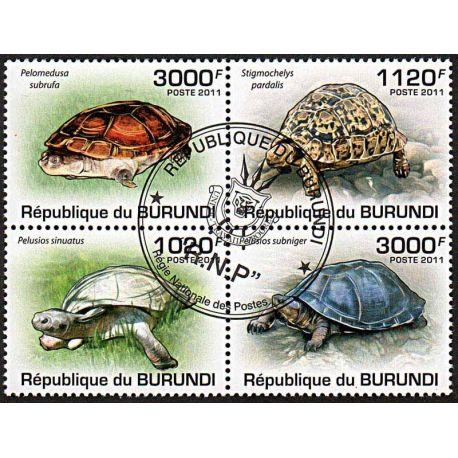 Timbres thèmatiques Burundi N° 1249/1252 Oblitérés