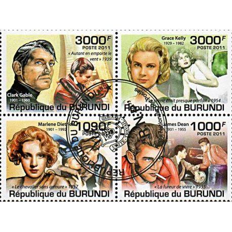 Timbres thèmatiques Burundi N° 1257/1260 Oblitérés
