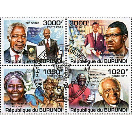 Timbres thèmatiques Burundi N° 1261/1264 Oblitérés